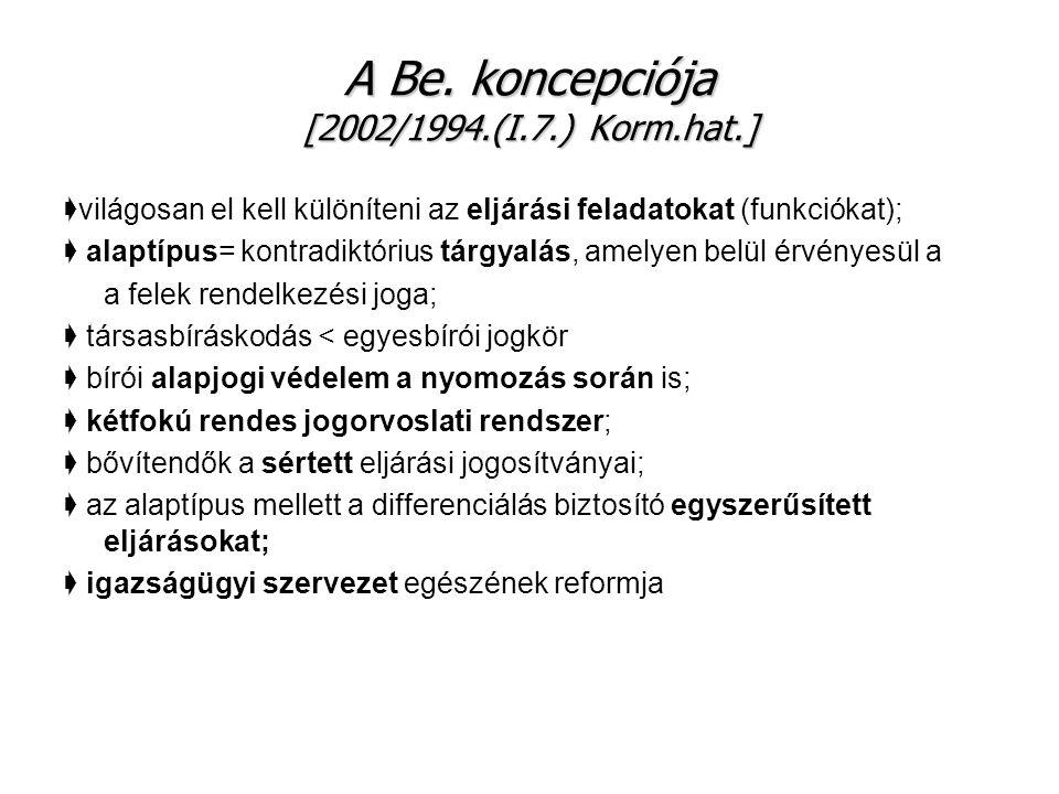 A Be. koncepciója [2002/1994.(I.7.) Korm.hat.]